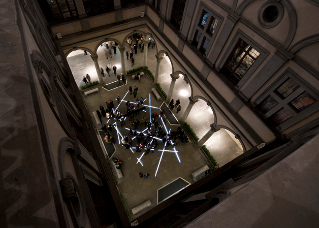 The inner courtyard: Photo by Palazzostrozzi.
