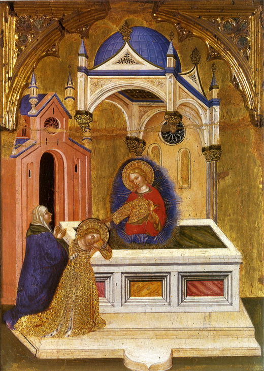 Eutychia and Lucy at the Tomb of Saint Agatha, by Jacobello del Fiore