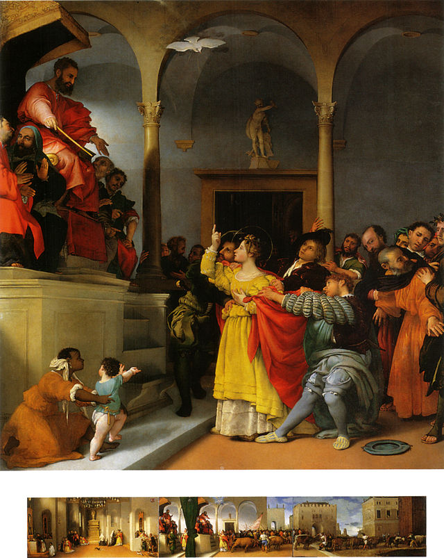 Lucy Before the Judge, by Lorenzo Lotto, 1523–32