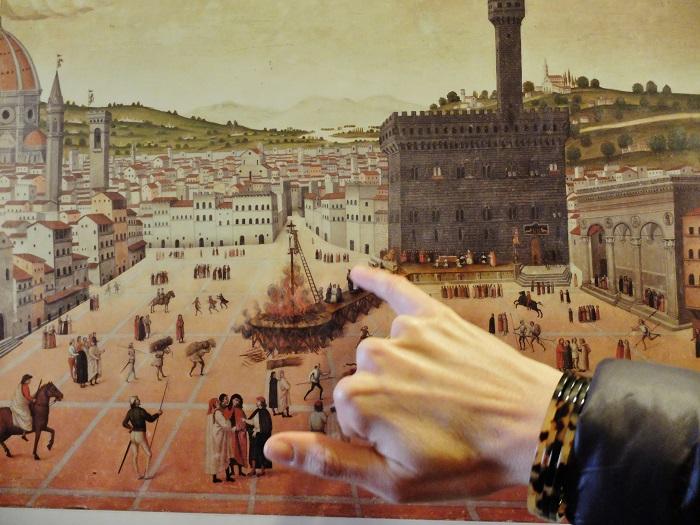 The burning of Savonarola in piazza della signoria