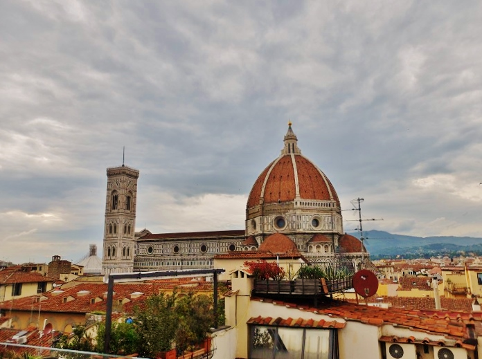 A 'Hello Duomo' moment from the terrace of Hotel Cavour