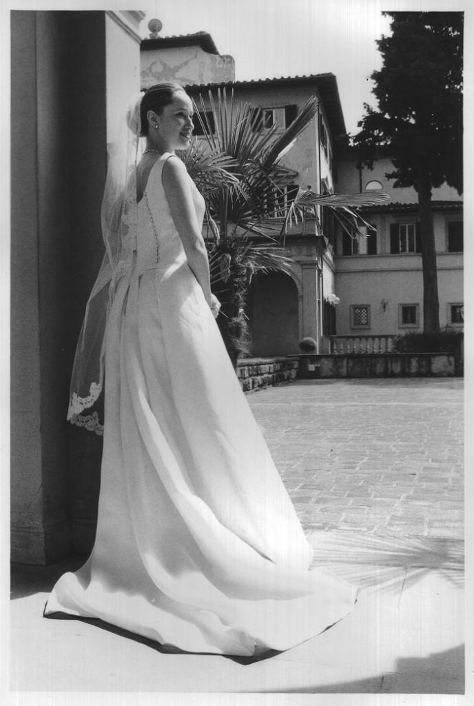 Alexandra in her wedding dress