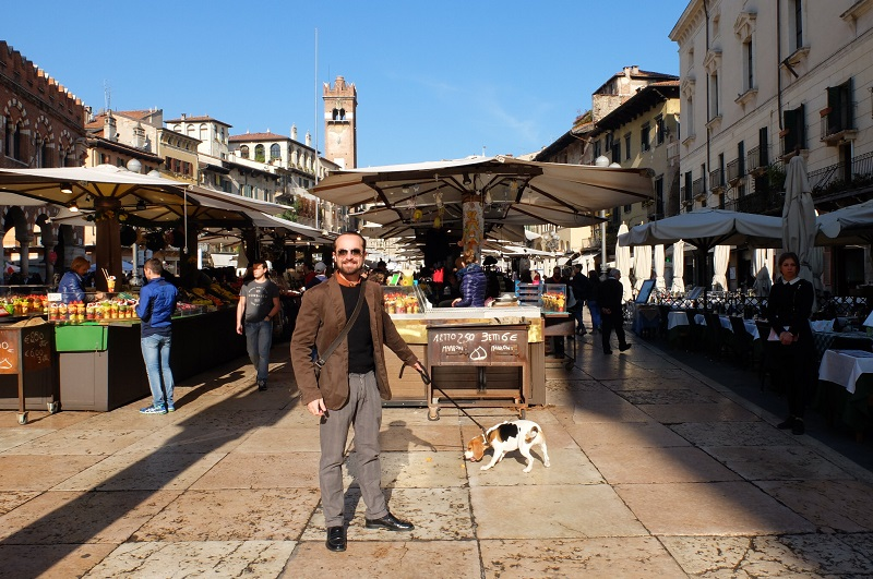piazza delle erbe, home to a constant daily market and lively atmosphere
