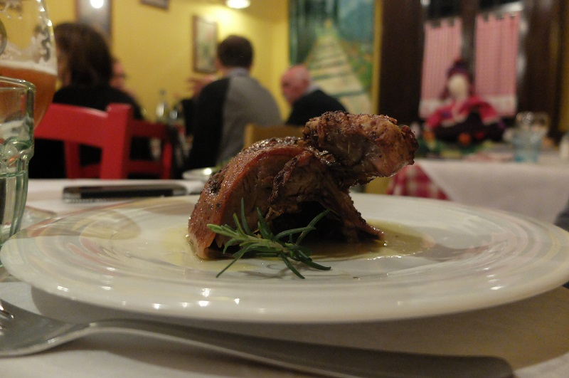 Roasted duck with thyme at the very awesome Taverna di Berardenga
