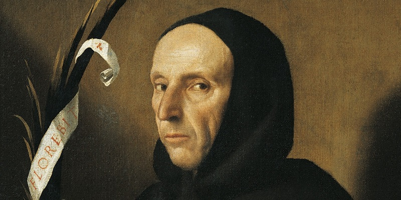 I like to think of this as his 'sexy face.' Portrait of Girolamo Savonarola (Ferrara, 1452-Florence, 1498), Italian preacher, Dominican friar. Painting by Alessandro Bonvicino (1498-1554). Verona, Castelvecchio (Art Museum) (Photo by DeAgostini/Getty Images)
