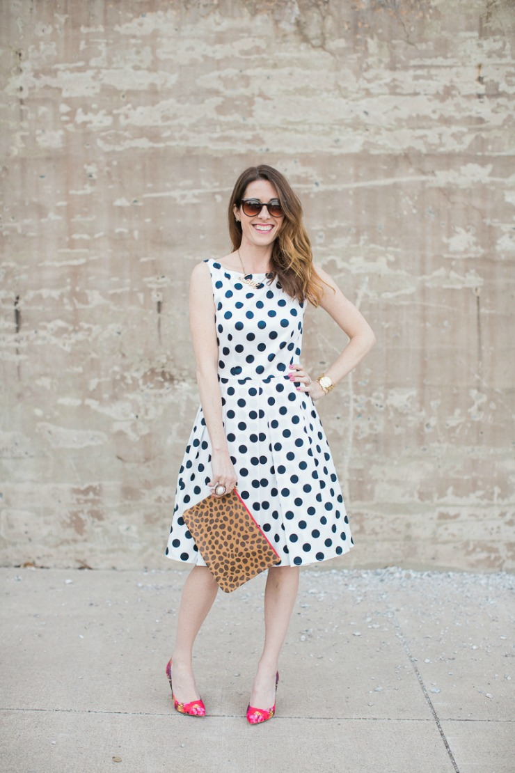 Conni Jespersen in the Golightly Dress in Polka Dots