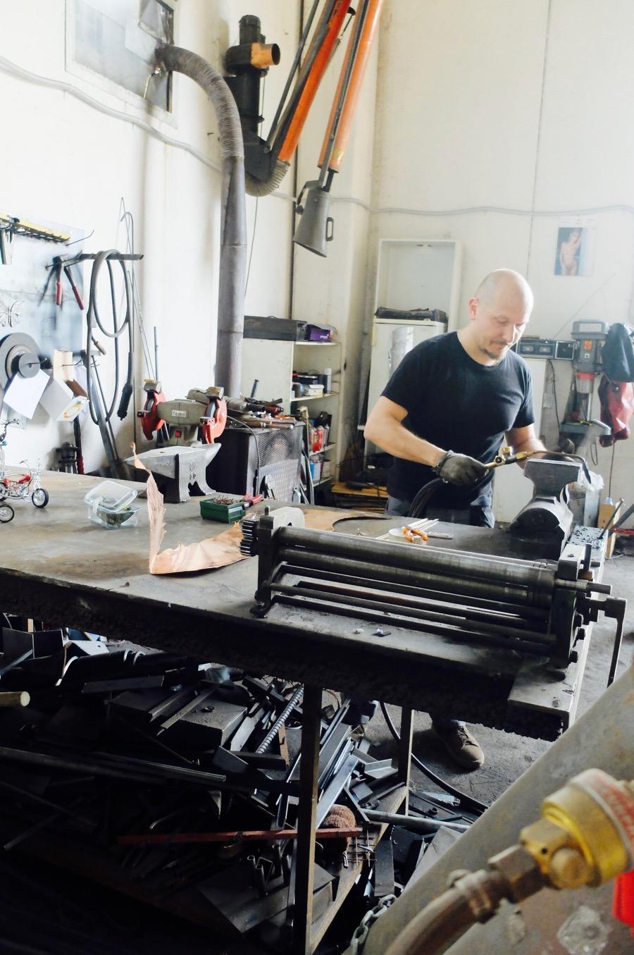 Fabrizio Maffei showing us how melding is done