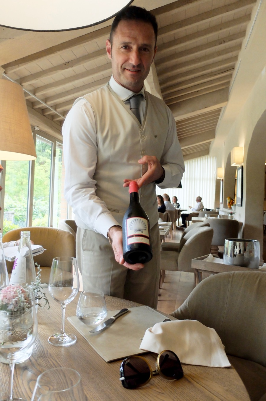 Il Borro's chardonnay was the perfect lunch pairing
