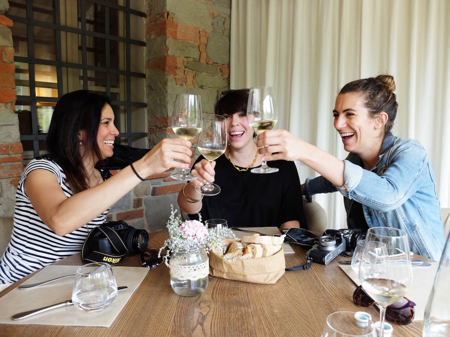 Ladies who lunch (with wine)