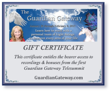 Guardian Gateway Telesummit I gift certificate for sales page plus shadow