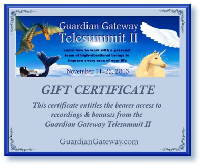 Guardian Gateway Telesummit II Gift Certificate for sales pagesmall