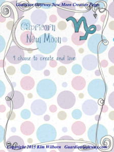Capricorn New Moon Creation Page2016 small