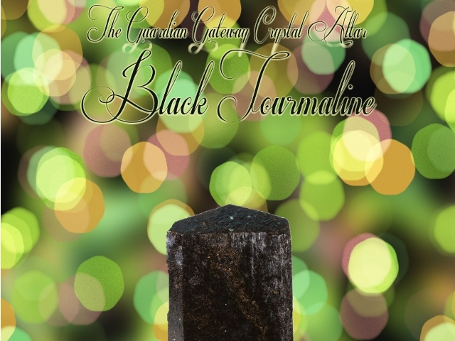 The Crystal Altar – Black Tourmaline