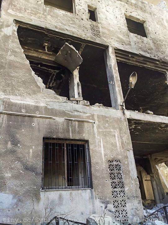 Photo of bombed out residence