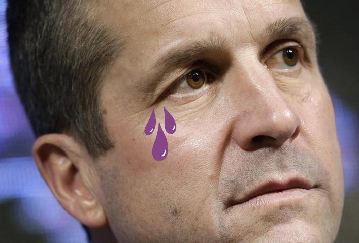John Harbaugh Sheds Purple Tears