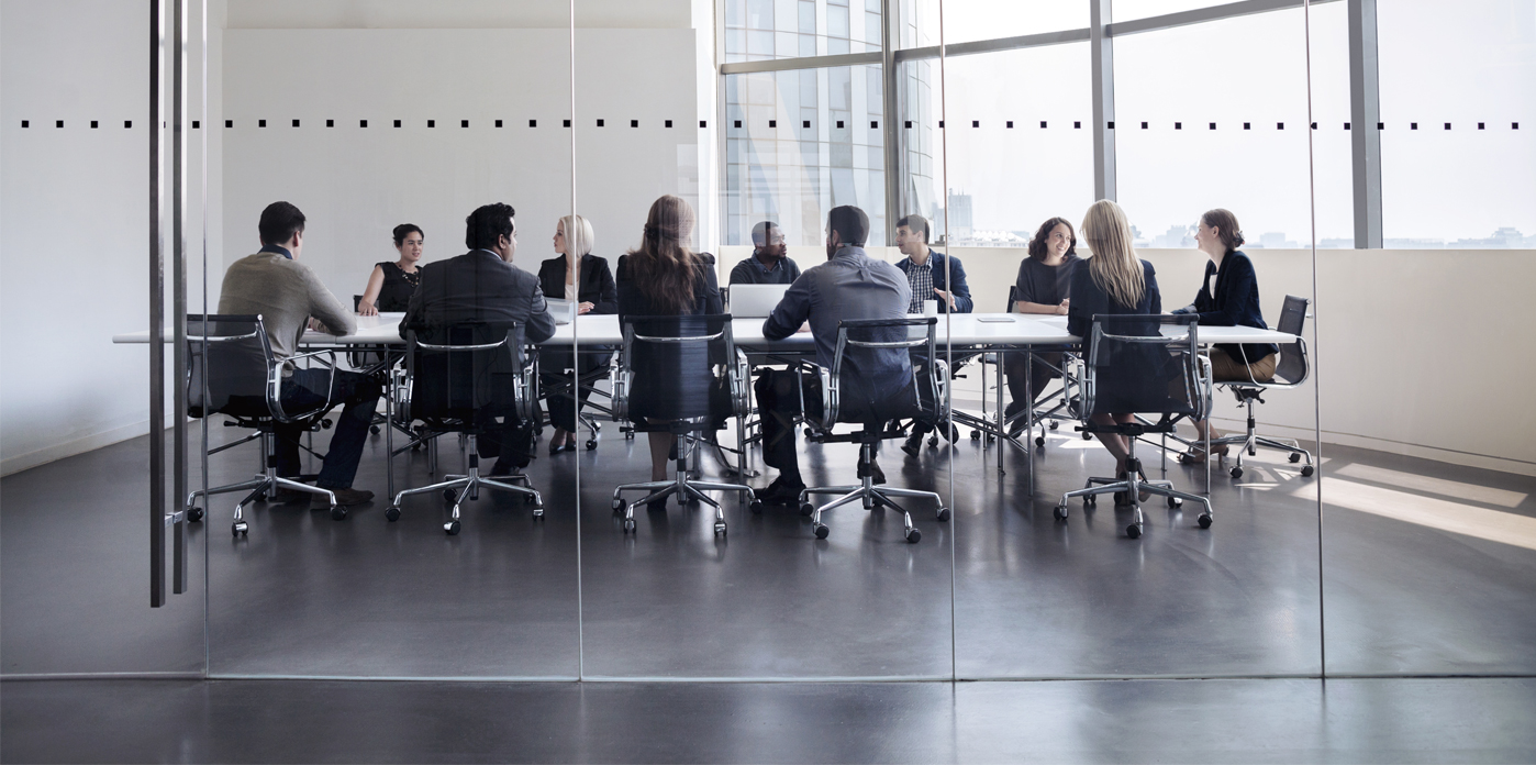 Conference room full of executives