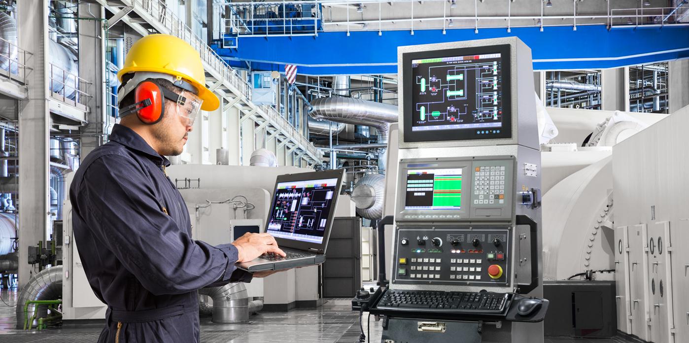 technician calibrating an automated program