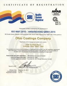 SRI Certificate Of Registration