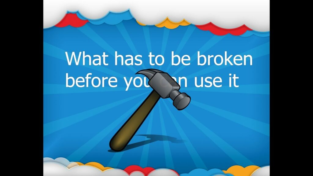 What has to be broken before it can be used? Riddle