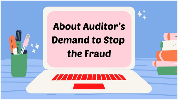 Auditors to change the software to stop the fraud