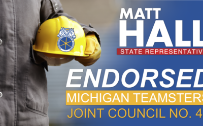 Matt Hall Receives Endorsement of Michigan Teamsters Joint Council No. 43