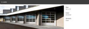 G-4400, 10x12, Anodized Window Clear