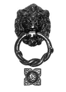 Iron Lion Head Knocker