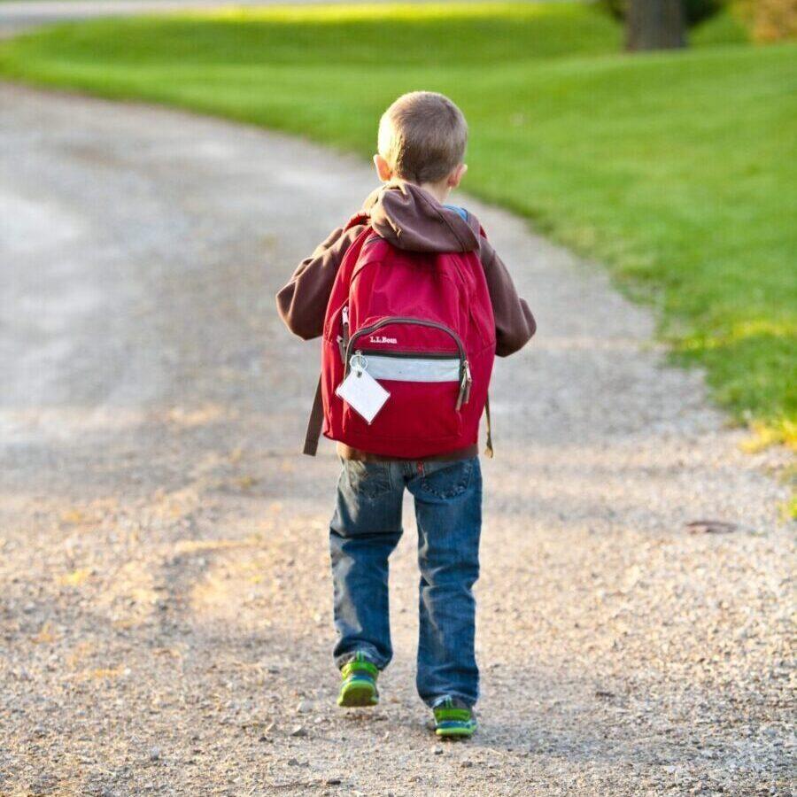 boy-in-brown-hoodie-carrying-red-backpack-while-walking-on-207697