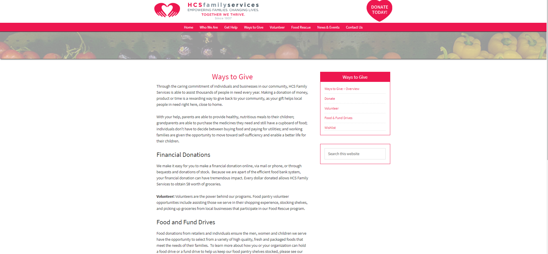 Photo of website page