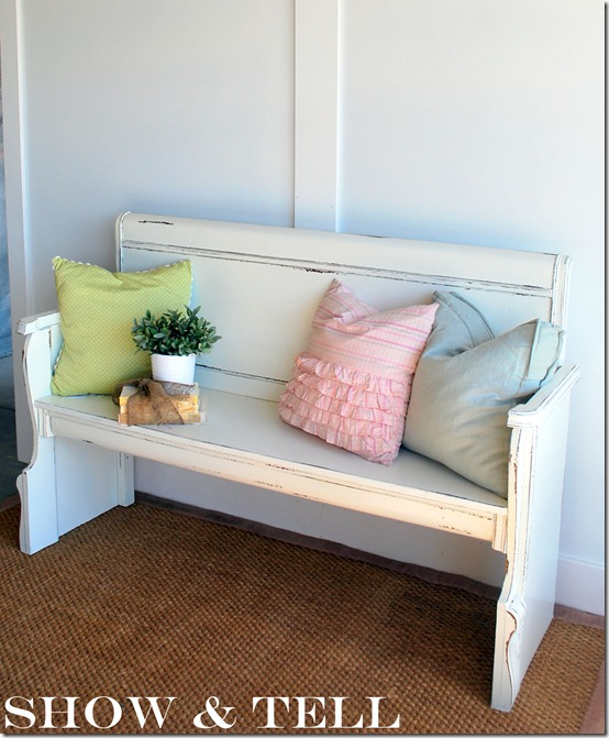 bench from a headboard footboard