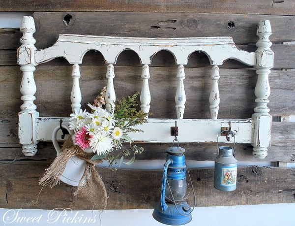 cool way to repurpose old bed