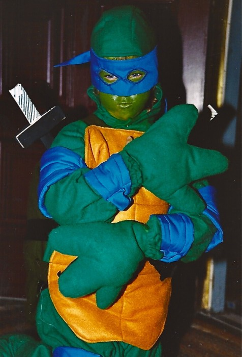 homemade ninja turtle costume for child