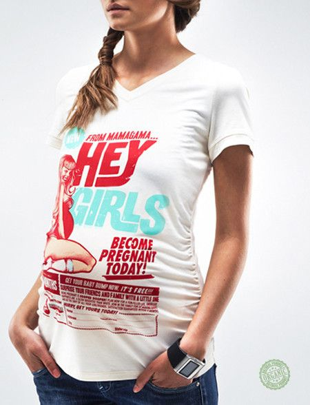 Bombshell White Organic Maternity T-Shirt
