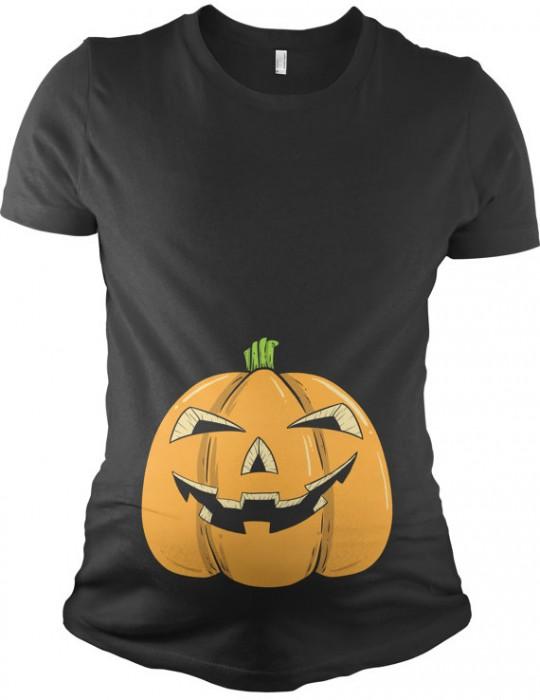 jack o lantern maternity shirt