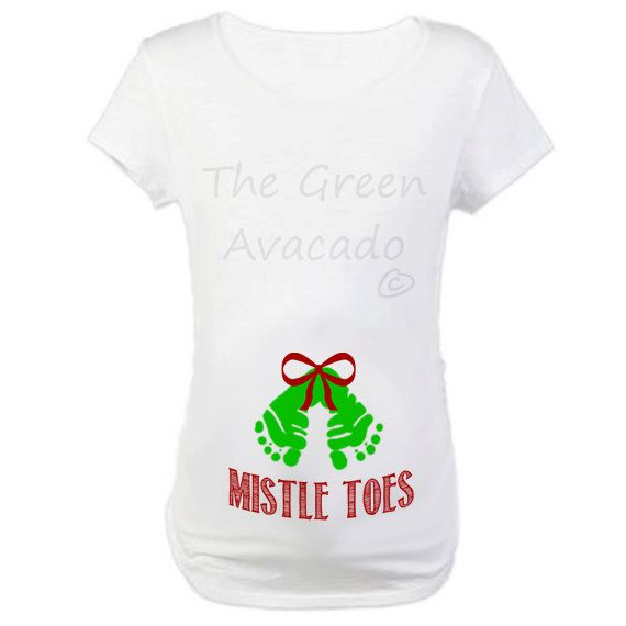 mistle toes maternity tshirt