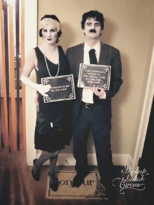 Silent Film Stars Couple Costume
