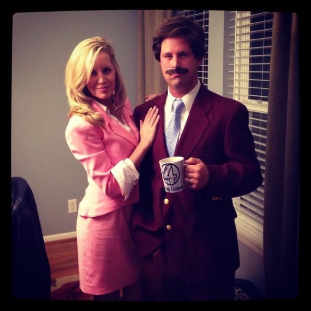 ron burgundy corningstone couples halloween costume
