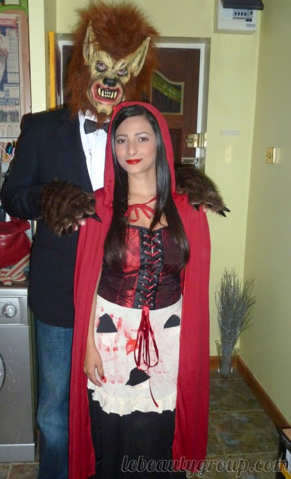 wolf and red riding hood halloween couple costumes