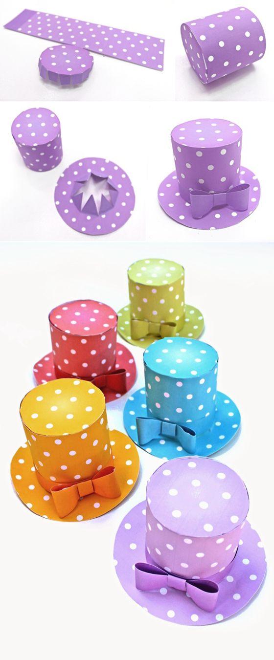 Mini polka dot hats