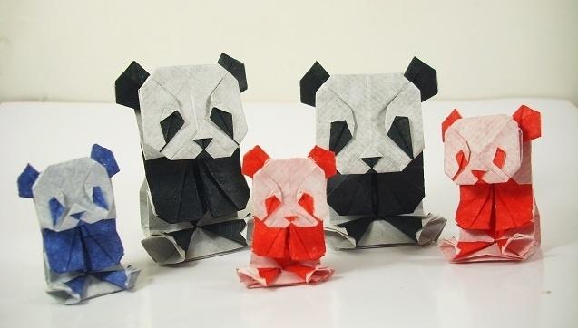 origami pandas
