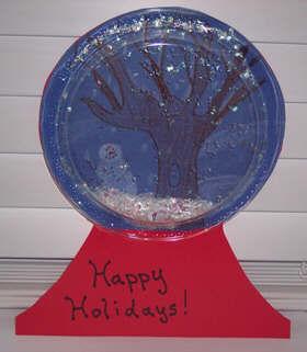 Craft_elf_holiday_Christmas_snow_globe_printable_ instructions__Holiday Snowglobe