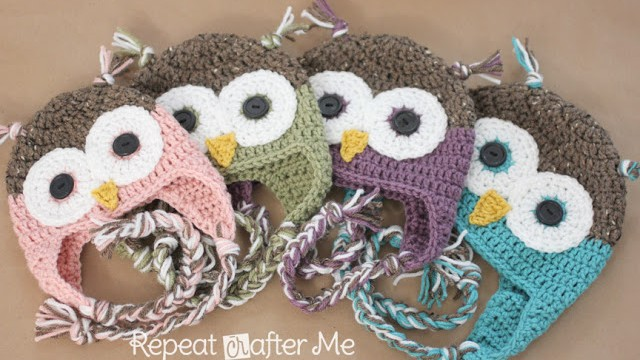 Crochet Owl Hat Pattern Newborn and Adult Repeat Crafter Me