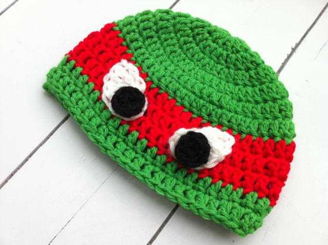 Crochet TMNT Beanie Chucks for Chancho