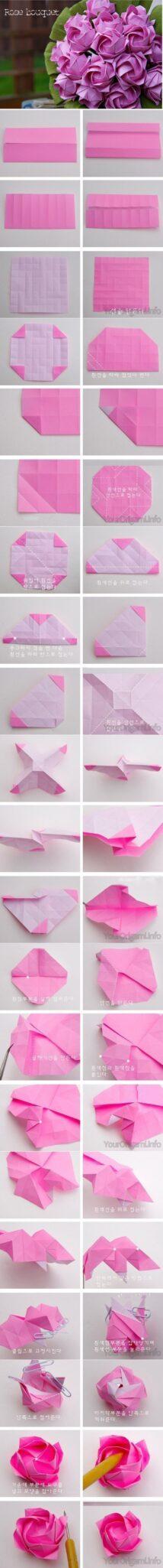 DIY-Beautiful-Origami-Paper-Roses-tutorial