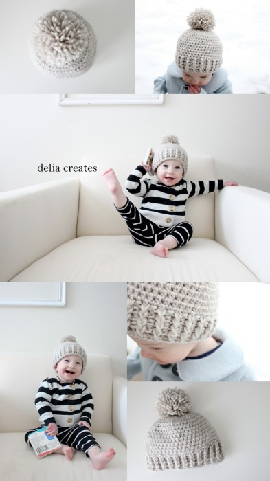 Delia Creates Crocheted Beanie Pattern