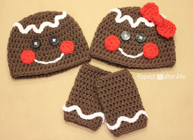 GingerbreadMan Crochet Hat Pattern Repeat Crafter Me
