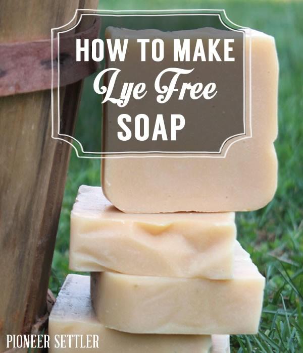 How to make lye free soap pioneersettler