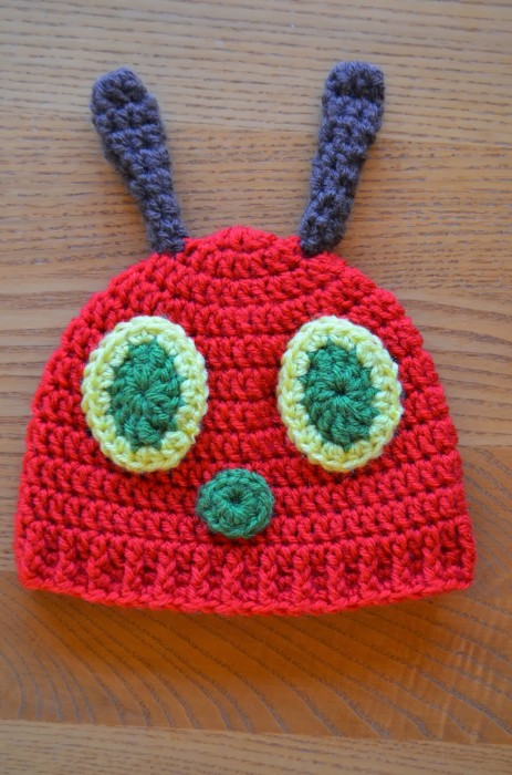 Hungry Caterpillar Baby Hat by Hand Me Down Hobby