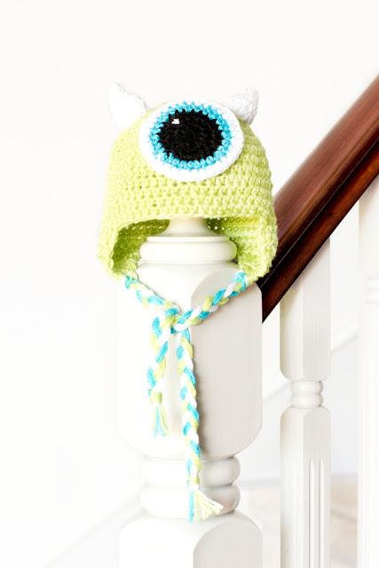 Mike Wazowski Baby Hat Crochet Pattern Hopeful Honey
