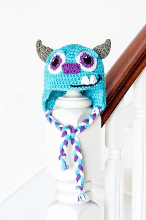 Monsters Inc. Sulley Inspired Baby Hat Crochet Pattern Olivia Hopeful Honey Crochet Patterns